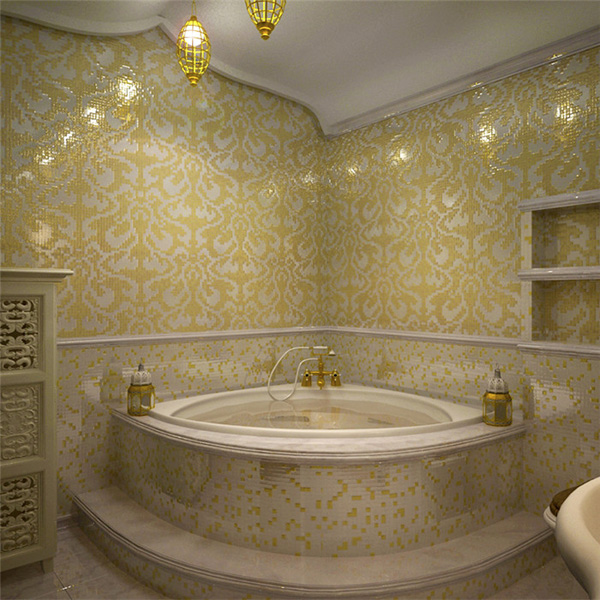 Gold  Leaf Mosaic -05